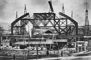 Estación de Atocha en construcción (Madridpedia)