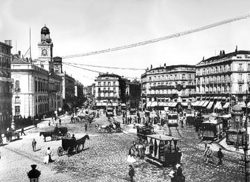 Lámina n? 56 [ Puerta del Sol. Hacia 1900 ]