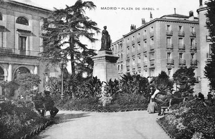 Lámina n? 64 [ Plaza de Isabel II. Hacia 1910 ]