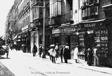 Lámina n? 80 [ Calle de Fuencarral. Hacia 1915 ]