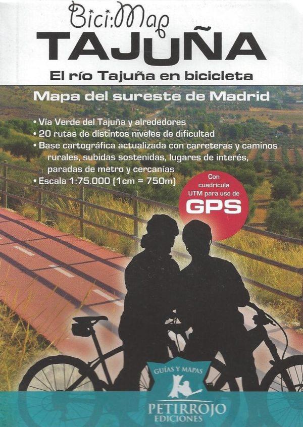 Mapa del Sureste de Madrid. El Río Tajuña en bicicleta