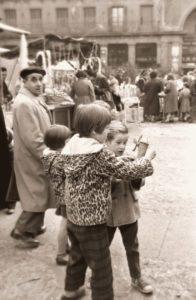 plaza mayor en navidad 1956