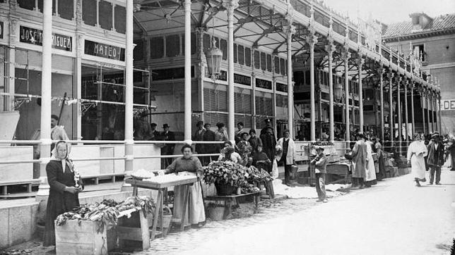 Mercado de San Miguel en 1916