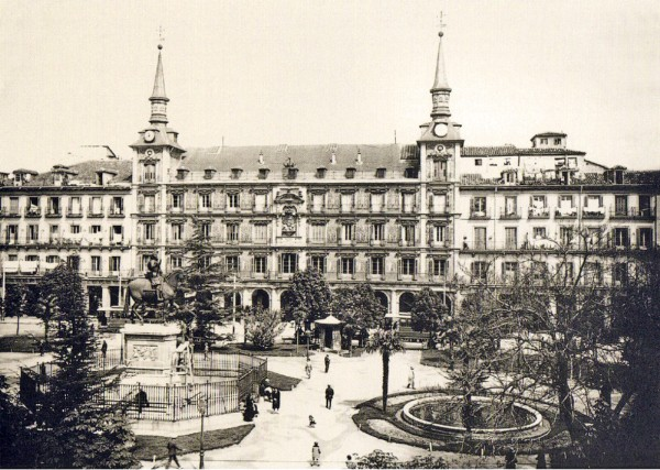 Plaza Mayor de Madrid en 1930