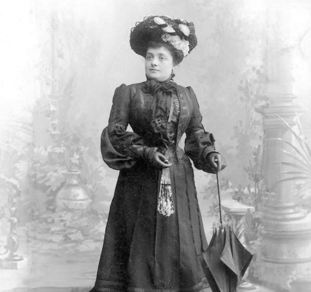 Vicenta Verdier, en ua foto del ABC, de 1907