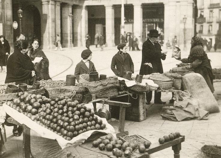 Plaza Mayor, en 1928 (Madrid)