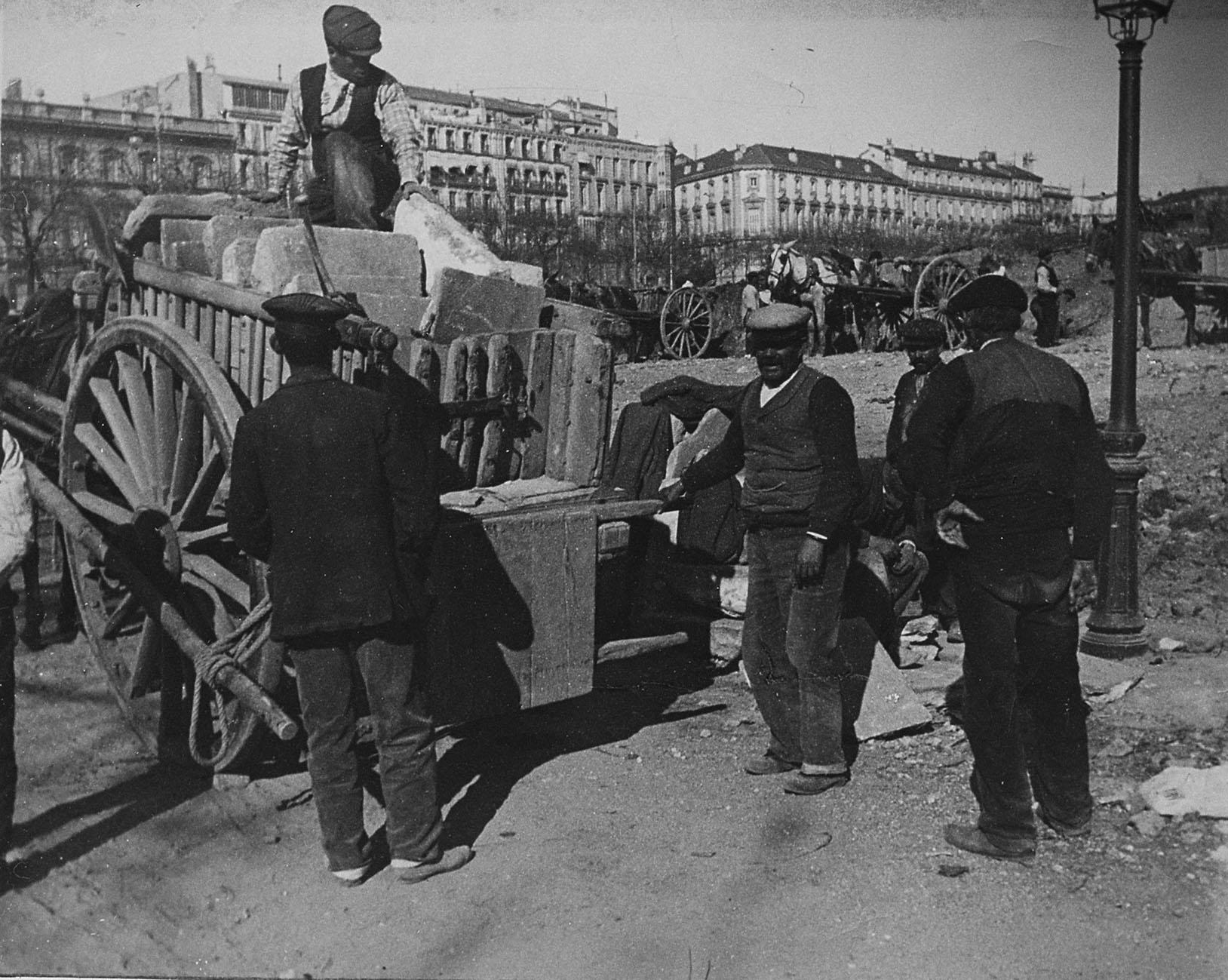 Obras en la Calle de Alcalá