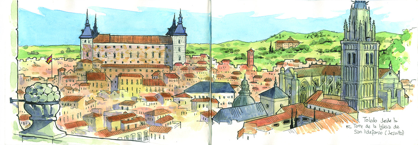 Acuarelas de Toledo