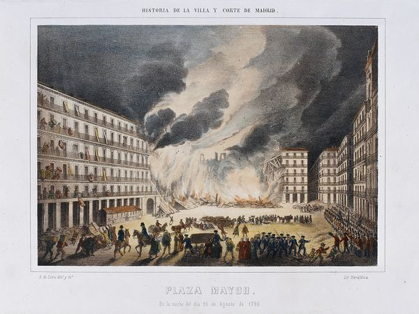 Incendio en la Plaza Mayor de Madrid