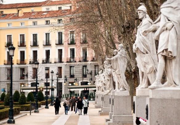 Las estatuas del Palacio Real