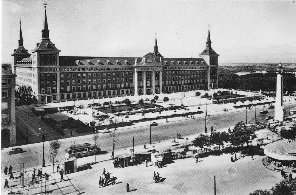Ministerio del Aire, Calle de la Princesa, años 60.