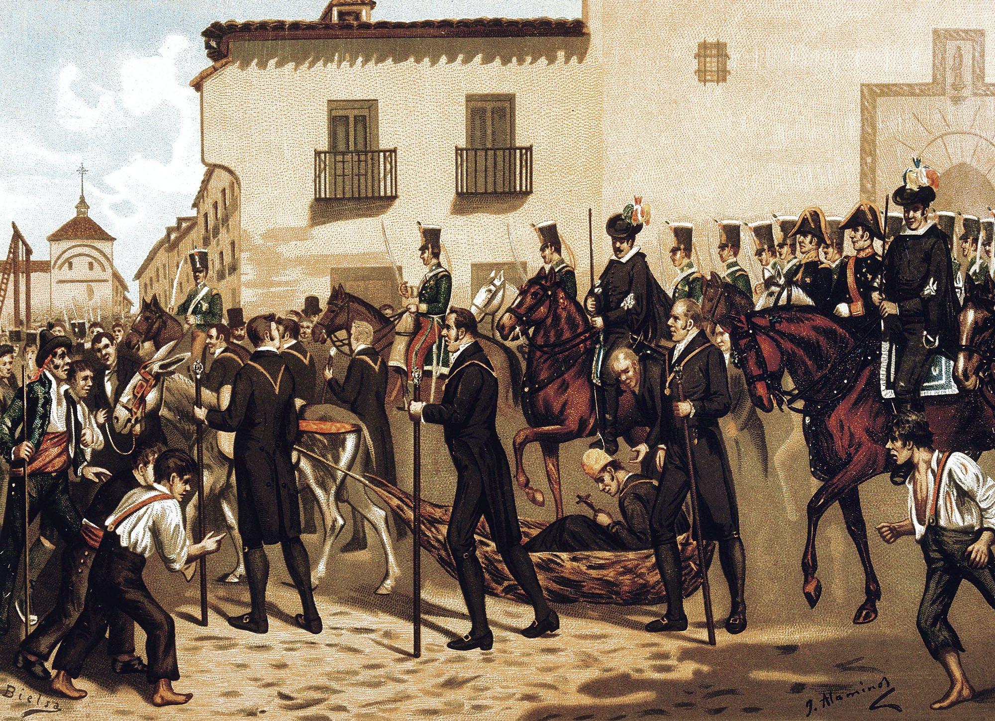 General Riego en la Plaza de la Cebada, Madrid