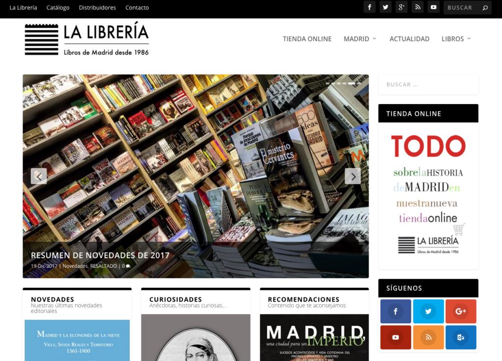 Nueva web de Ediciones La Librería